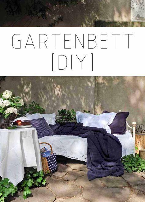 Ein Gartenbett Bitte Diy Balkon Pinterest