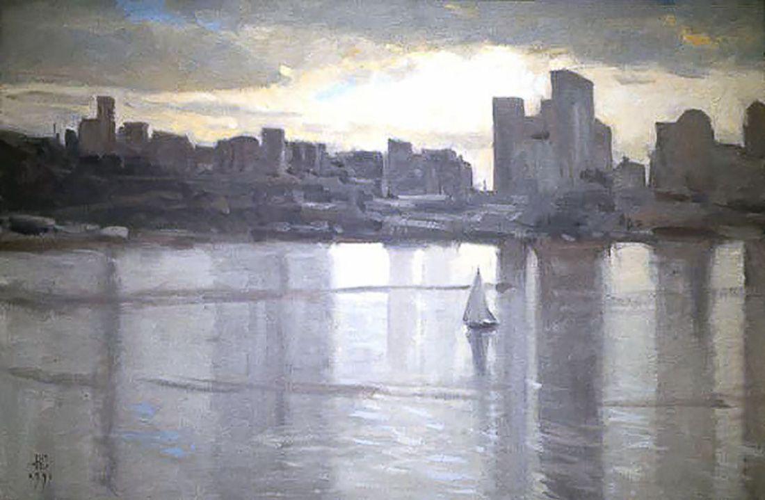 William E. Elston, Lake Union, oil on canvas, 18 X 26 inches, copyright ©1991