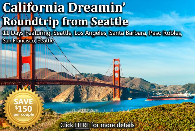 California Dreamin Rt Seattle Package Includes Roundtrip Amtrak In Coach Accommodations From Seattle To Los An Expedia Travel California Dreamin Paso Robles
