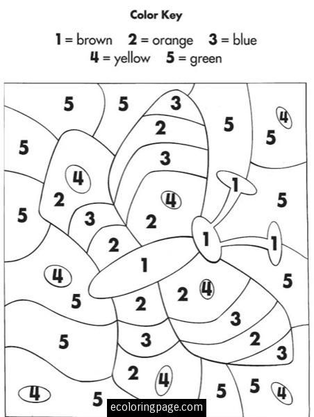 Color By Numbers | eColoringPage.com- Printable Coloring Pages ...
