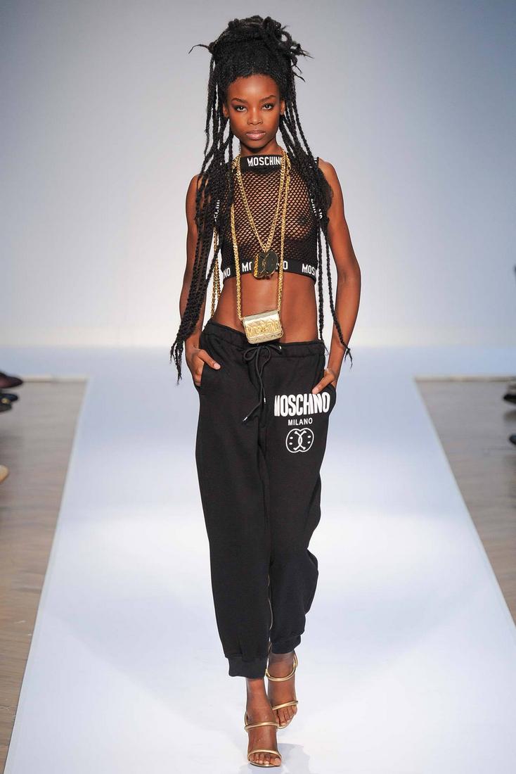 chantellecoco:  Moschino Men RTW Spring 2015 Catwalk Model: Maria Borges