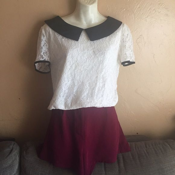 Lace school girl style top Fits a size m or smaller large best Tops Blouses
