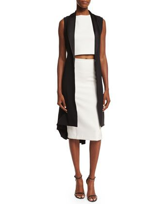 fee05204a9e Soni Long Sleeveless Jacket, Cressida Cropped Top & Jarrett Pencil Skirt by  Alice + Olivia at Neiman Marcus.