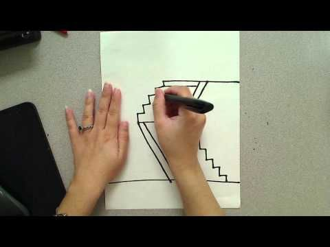 How to draw a Japanese Mountain Temple(outline) - YouTube