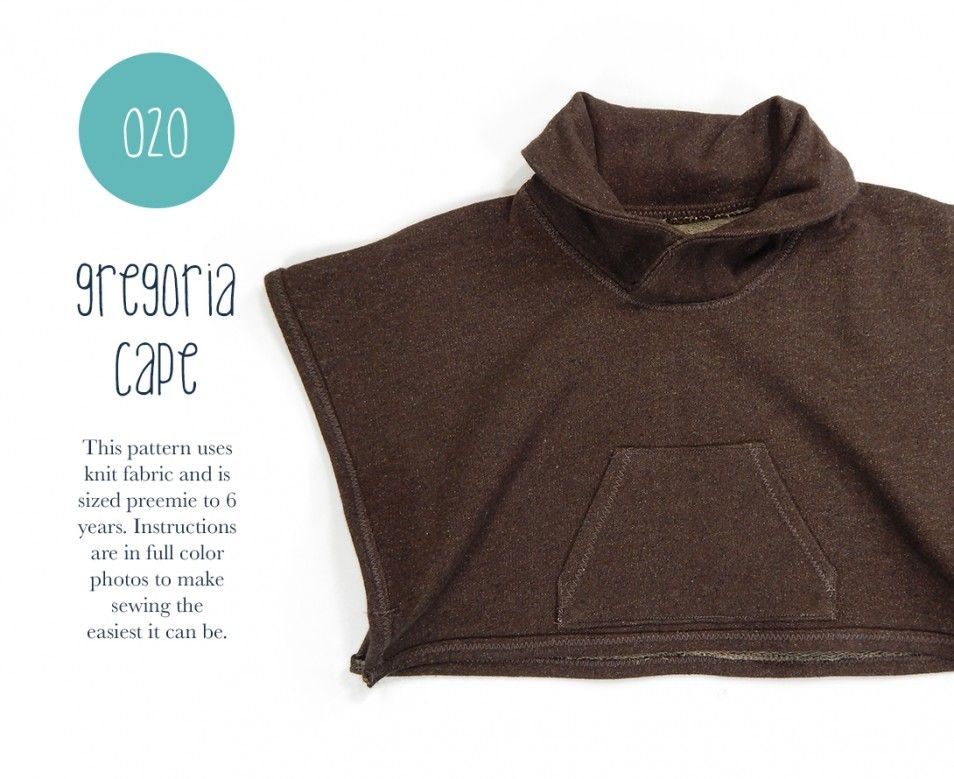 Gregoria Cape $7 pdf | Sewing: Patterns to Buy | Pinterest