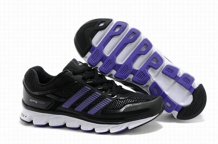 Womens Adidas Springblade Adiprene Running Shoes Black Purple Trainers d39e9872bb