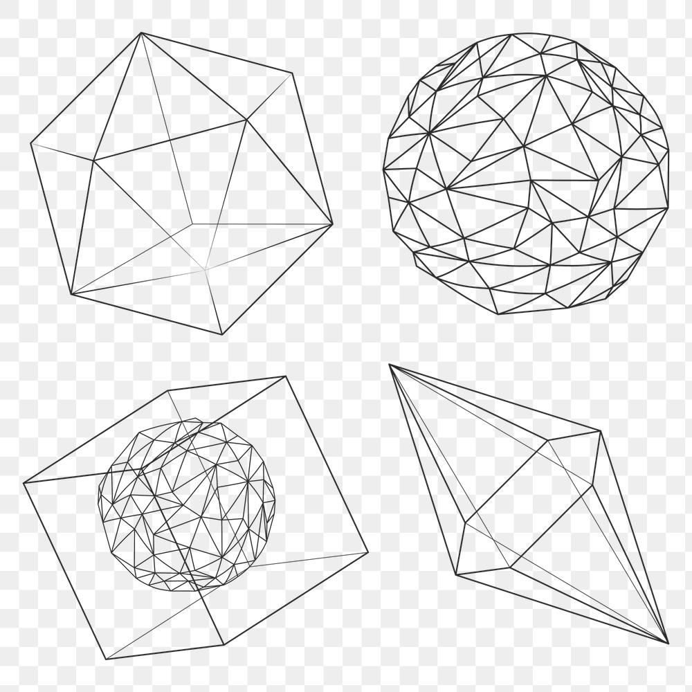 3d Geometric Shape Design Element Set Free Image By Rawpixel Com Aew Geometric Shapes Design 3d Geometric Shapes Geometric Shapes