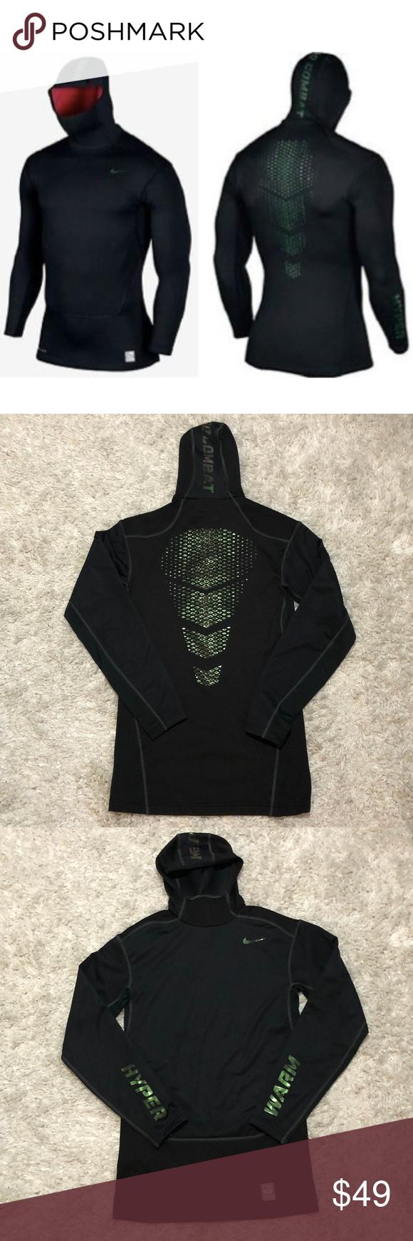 Nike Pro Combat Hyperwarm Dri Fit Shield Hoodie Nike Pro Combat Athletic Fashion Nike Pros [ 1740 x 580 Pixel ]