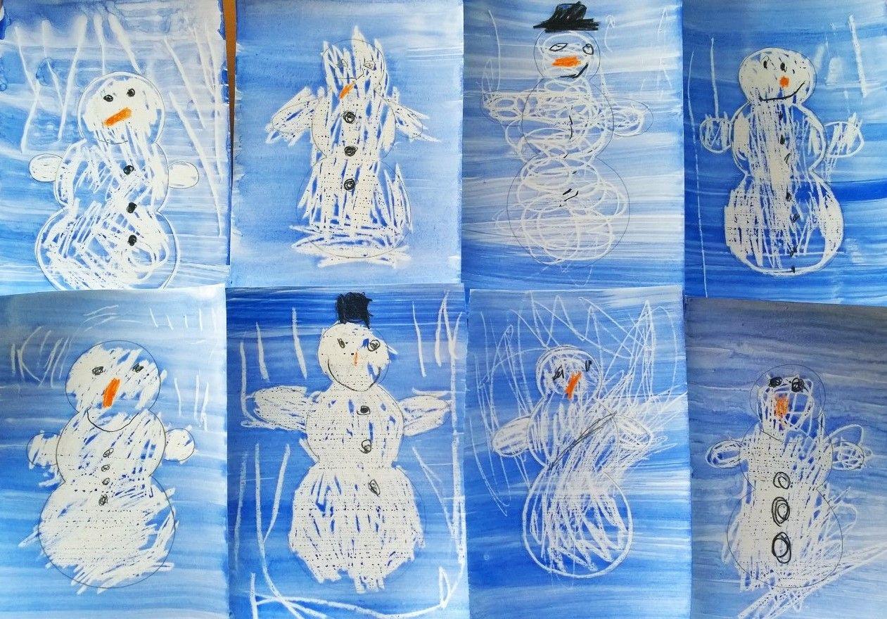 Lumiukkoja <3 Vahaliitu+ vesiväri