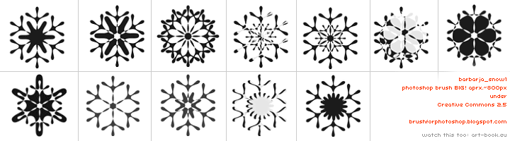 Awesome snow flakes. other brushes: http://brushforphotoshop.blogspot.com/  #barbarja #Flakes #snow #winter Check more at http://psdfinder.com/brushes/snow-flakes