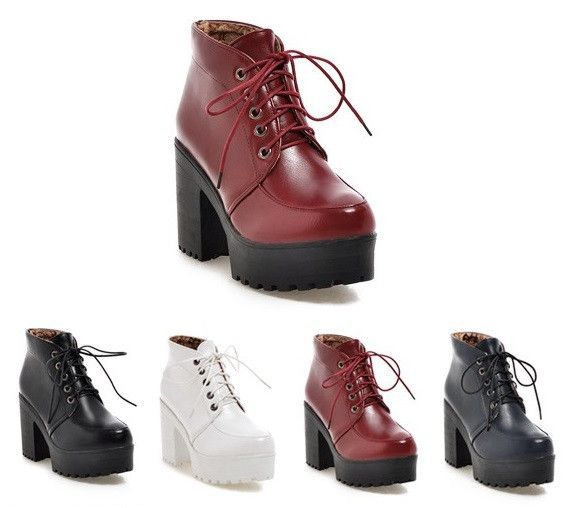 051b61f14fd8 Edgy platform high heel boots for the modern fashionista - Comfortable  breathable upper - Made from PU - 9.5 cm heel height - 4 cm platform -  Available in 4 ...