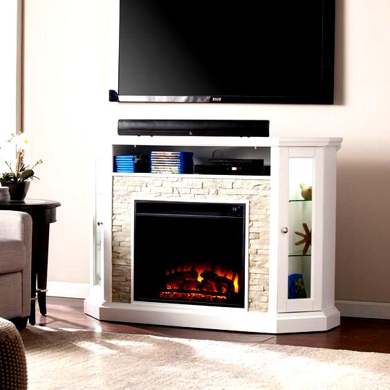 Sei Bellingham 52 25 In W Corner Convertible Media Electric Fireplace In In 2020 Faux Stone Electric Fireplace Corner Fireplace Fireplace Tv Stand