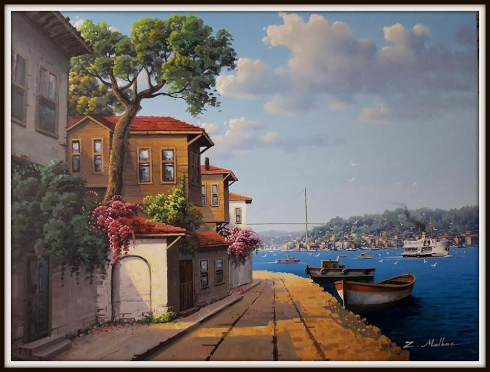 Tablolarda İstanbul Ressam ...Zekeriya Malkoc