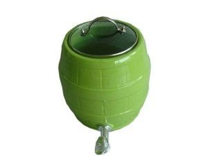 Ceramic Barrel Lime Green Drink Dispenser