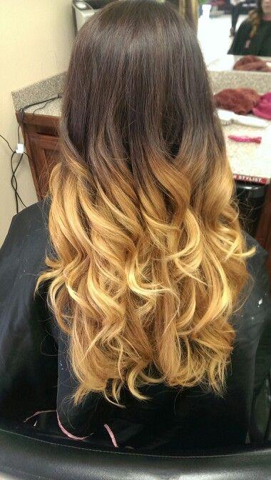 3 Color Ombre On Dark Brown Hair Hair Color Ombre Hair Hair