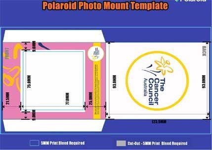 New Product Custom Branded Polaroid Film Photo Mounts Create - polaroid template