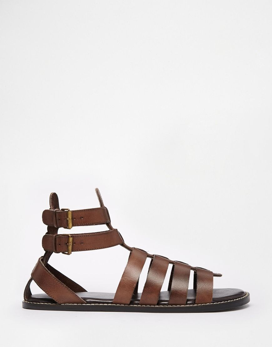 ASOS Gladiator Sandals in Leather at