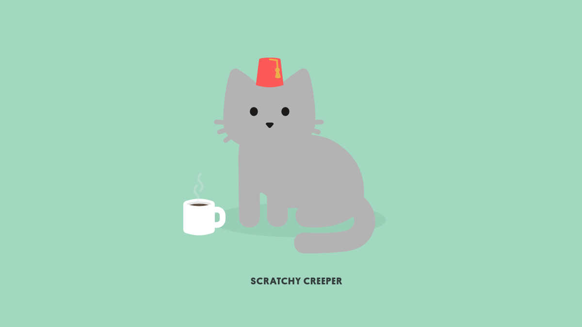 Fez and Coffee Found with the Tabby Cat chrome extension