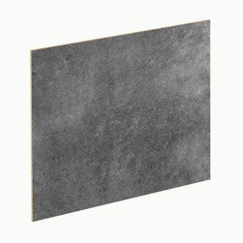 Crédence stratifié Blanc brillant / effet béton gris H.64 cm x L.300 ...