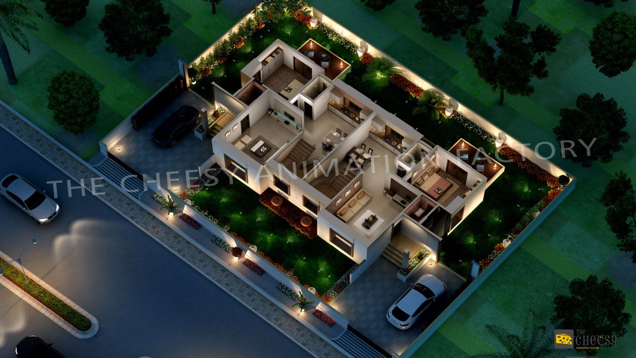 best residential house plans and designs. 3D Floor Plan design services provided by THE CHEESY ANIMATION FACTORY are  best known in India
