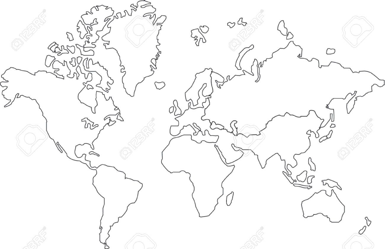mappa del mondo stilizzata - Cerca con Google | Doodle ideas ...