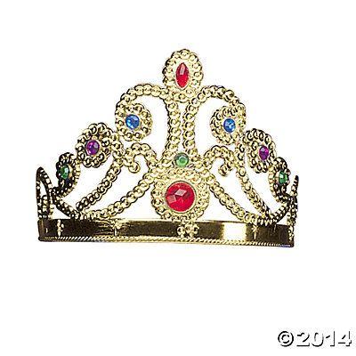 Golden Crown Jewel Tiara - Oriental Trading