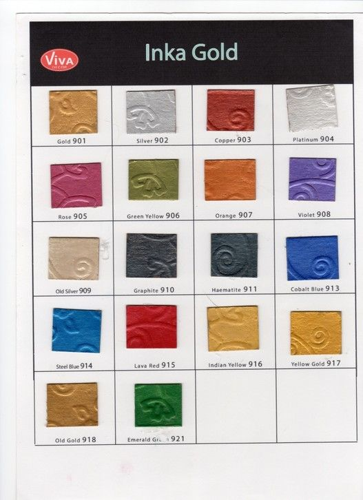 Inka Gold Metallic Paint Crafts Paint Stain Pinte