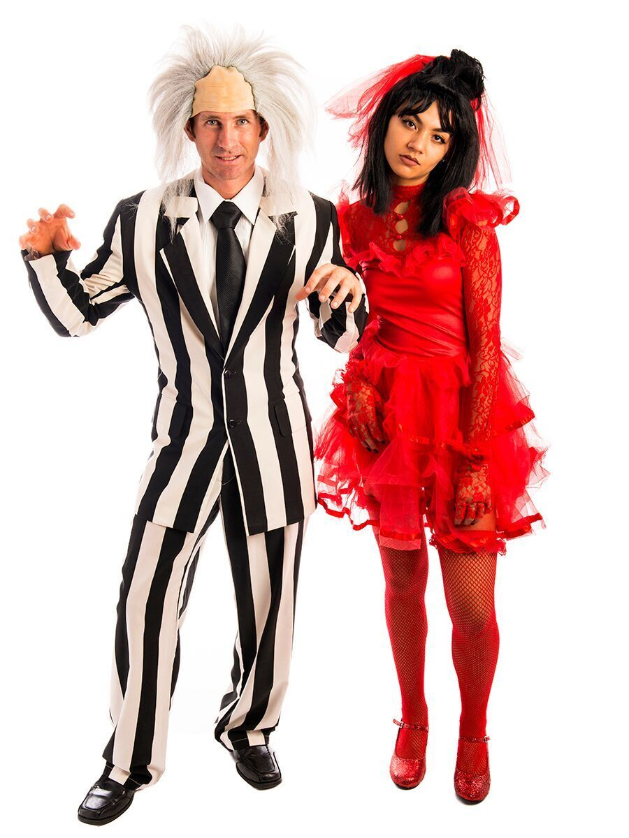 Beetlejuice And Lydia Couple Costume Beetlejuice Couple Costume Couples Costumes Beetlejuice Costume