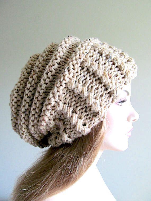 Slouchy Beanie sombrero de Slouch de gran tamaño holgado boina ...