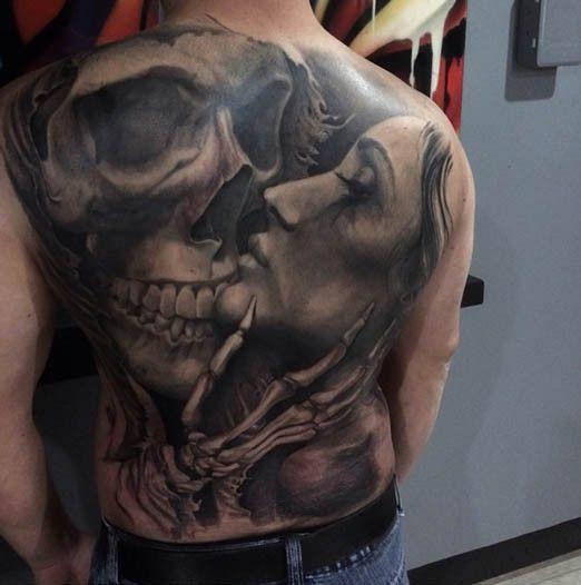 Skull Back Piece: Skull Tattoos, Tattoos, Back