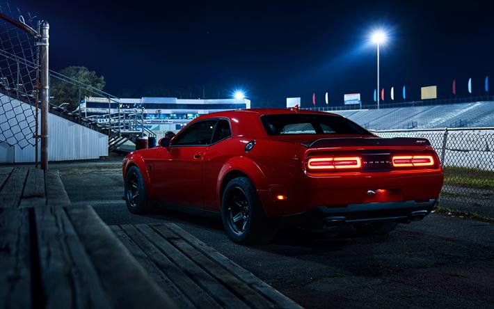 Download Wallpapers Dodge Challenger Srt Demon 2018 American