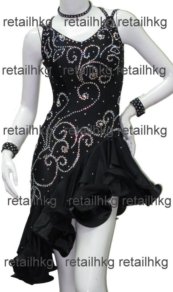 New Woman Latin Salsa Rumba Jive Samba Ballroom Competition Dance Dress