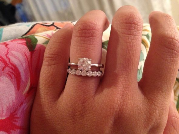 7 stone wedding band 5tcw 1ct solitaire love