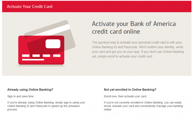 Www Bankofamerica Com Activate Bank Of America Credit Card Activation Credit Card Online Credit Card Bank Of America