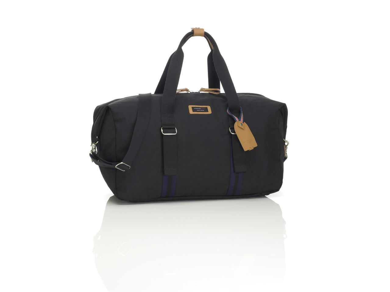 The Cabin Carry-On from Storksak in Black is a wheeled travel bag with telescopic handle and contains an incredibly functional and smart hanging organiser inside.