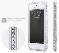 Wish | Silver  Deluxe Sparkling Elegant Crystal Diamond Element Metal Bumper Case Cover For iPhone 4 4S 5 5S 6 Plus