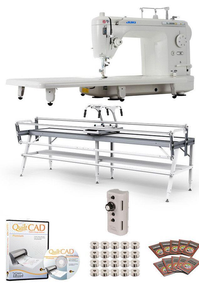 Juki TL-2000Qi Long Arm, Grace GQ Frame, Speed Control & QuiltCAD ...