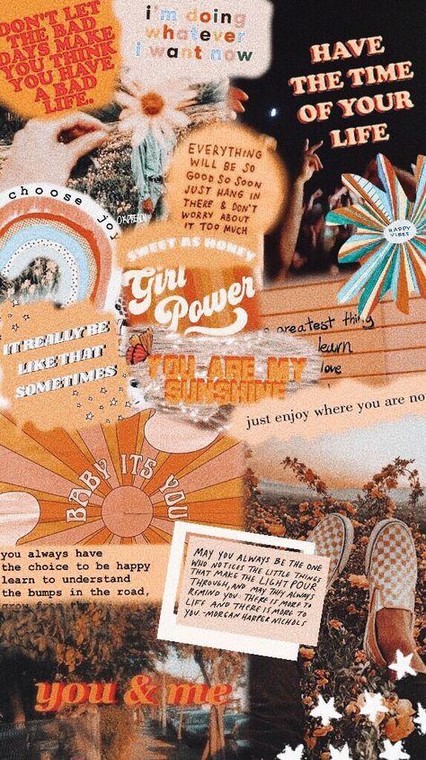 15 Trendy Orange Aesthetic Wallpaper Collage