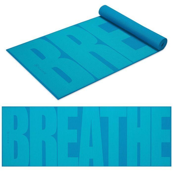 Gaiam Premium Yoga Mats Breathe Print Lightweight 5mm Free Yoga Workout Healthy Free Yoga Workouts Gaiam Yoga Yoga Fitness