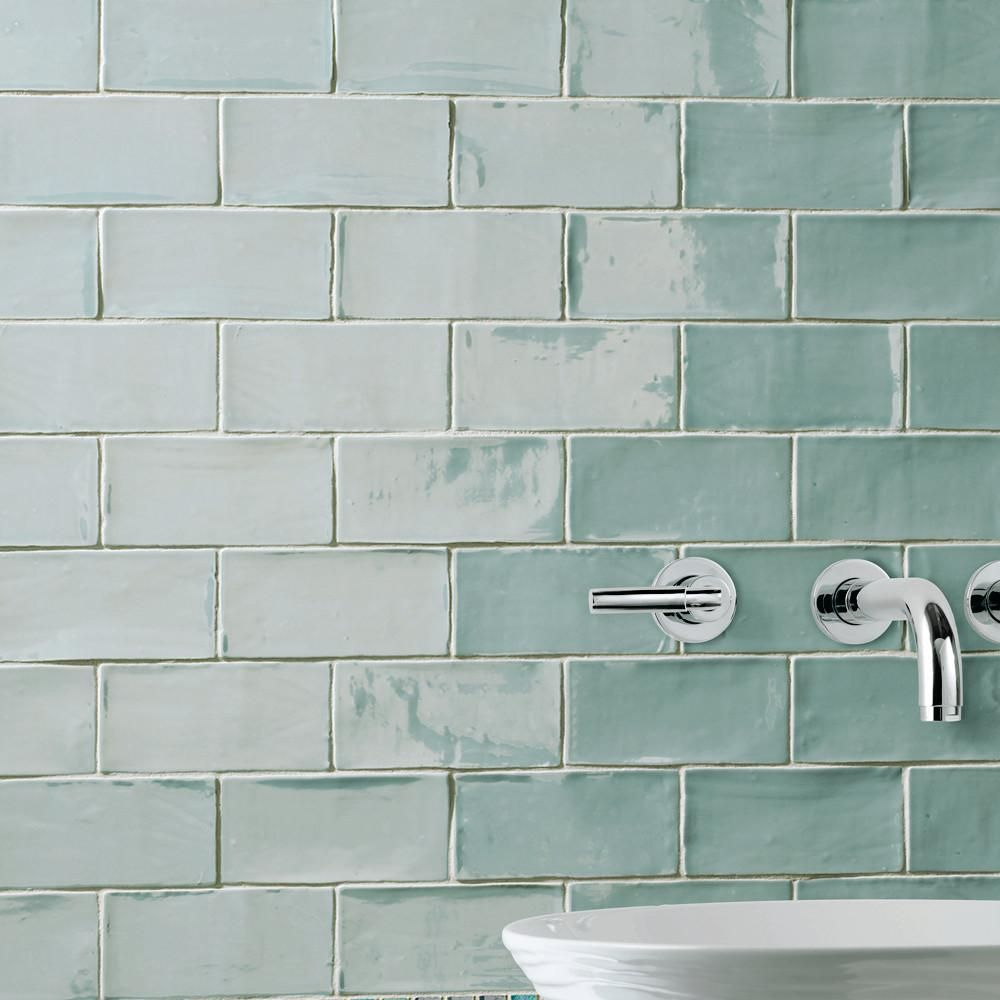 Merola tile chester acqua 3 in x 6 in ceramic wall tile 1 sq ft merola tile chester acqua 3 in x 6 in ceramic wall tile 1 dailygadgetfo Gallery