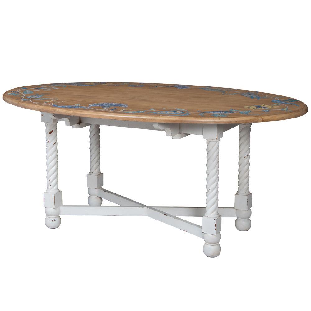 French Cottage Kitchen Dropleaf Table - Belle Escape | Furniture ...