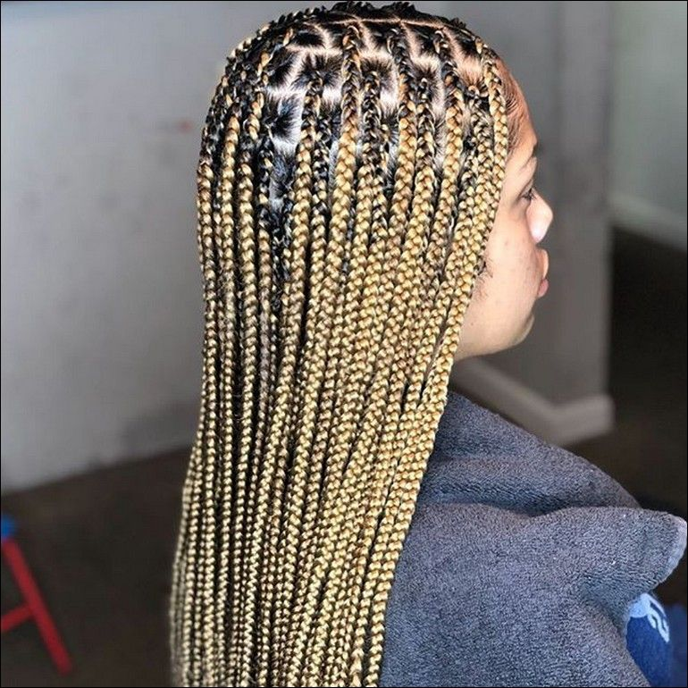 Blonde Knotless Braids Image Project Front Lace Wigs Human Hair African Braids Hairstyles Hair Styles In today's i will be teaching you how to do the beyonce inspired knotless braids or blonde and brown mix knotless braids (for the best quality watch in. blonde knotless braids image project