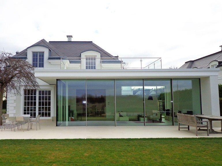 baie vitr e coulissante en aluminium keller glasshouse by keller home extension pinterest. Black Bedroom Furniture Sets. Home Design Ideas