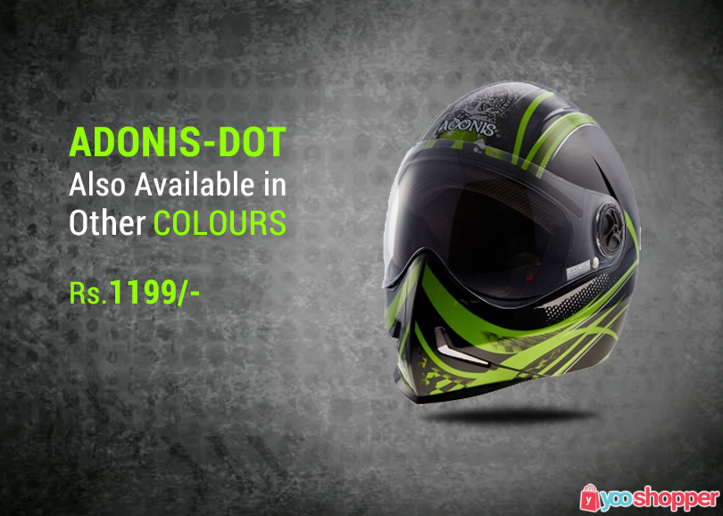 #helmets Adonis-dot-black-with-green also available in other colours #bikers ordernowfrom http://www.yooshopper.com http://www.yooshopper.com/product/326/547/adonis-dot-black-with-green?lcId=145431