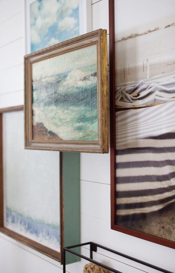 Picture Frame Riser Project | Gallery Wall | Sea Art | Painting ...