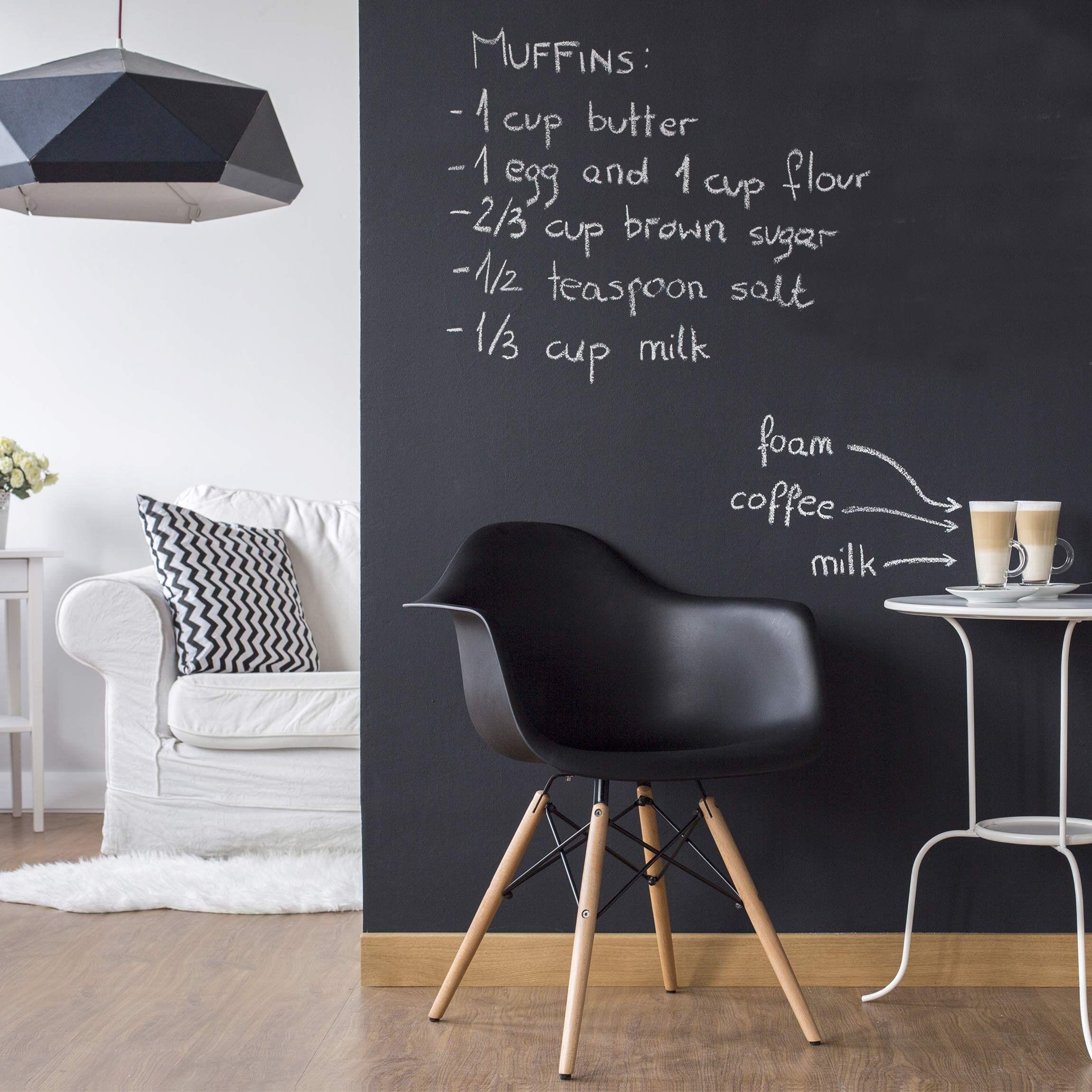Tafelfolie Selbstklebend   Wohnzimmer   DIY Tafeltapete Schwarz
