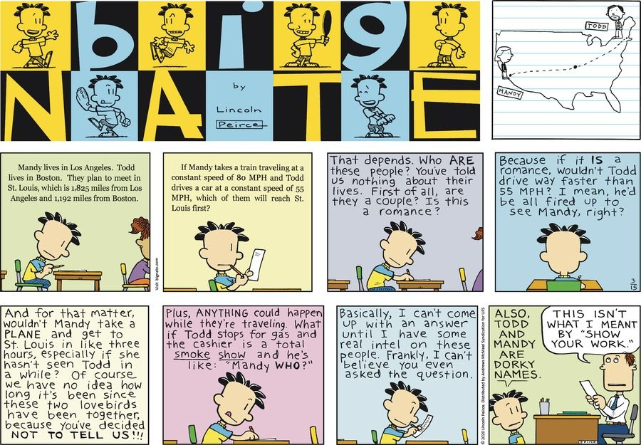 For march 15 2020 in 2020 big nate comics lincoln