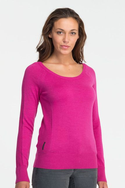"""Icebreaker, """"Ariana LS Scoop"""" $159.99 -- The Ariana is a stylish sweater from our premium collection of fully fashioned Black Sheep knitwear. Crafted from our softest, finest merino yarn, the Ariana is back-to-front reversible so it's a v neck sweater and a scoop neck sweater in one. Designed for travel or urban wear, it features rib cuff, hem and side panels."""