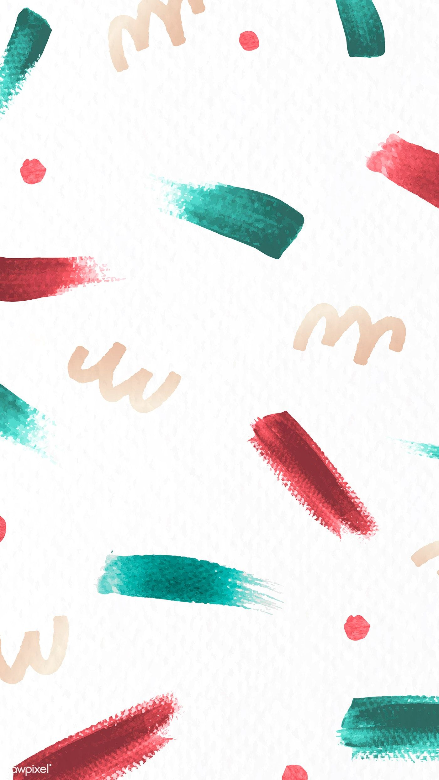 Download premium image of Red and green brush stroke