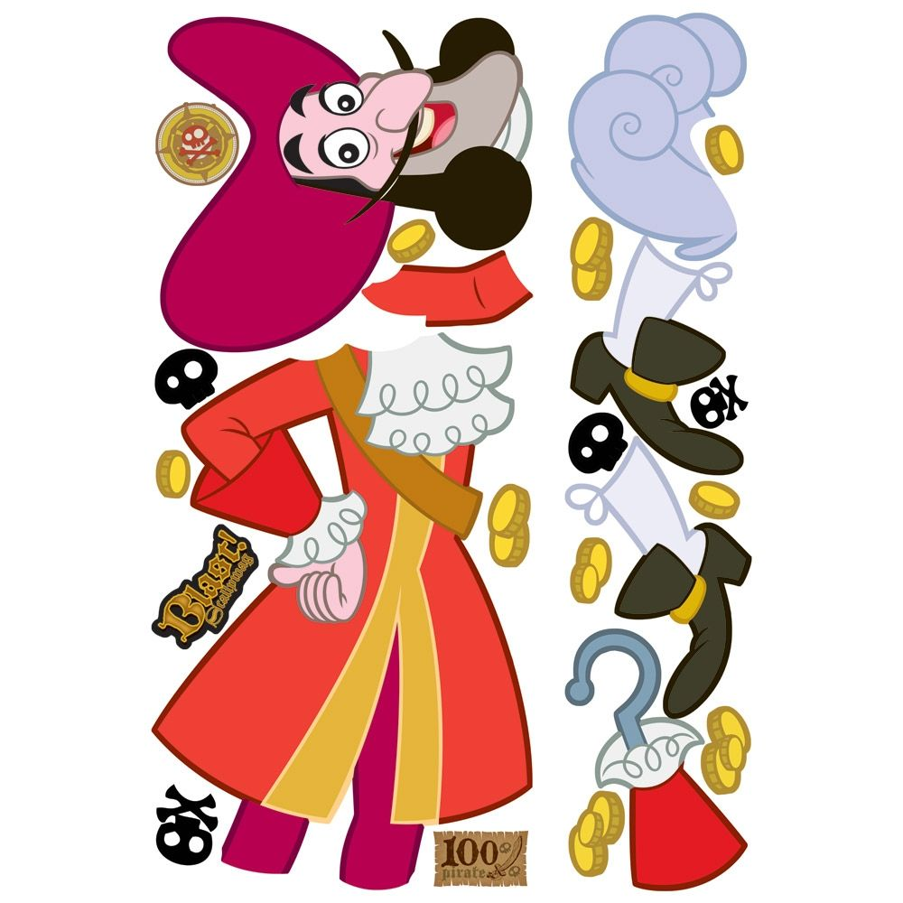 jake and the never land pirates captain hook giant removable wall